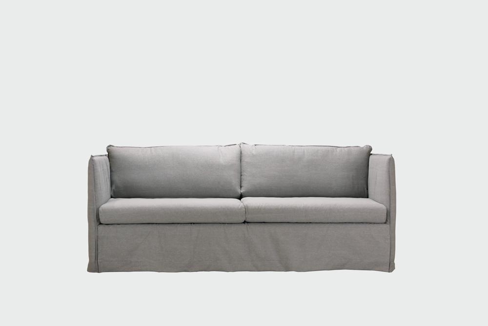 Filippa sohva vaaleanharmaa Ranch-kankaalla.