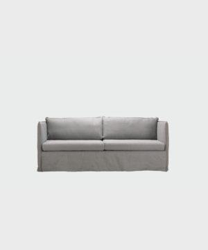 Filippa-sohva harmaalla Ranch-kankaalla.