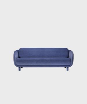 Iso Bobo-sohva laventelin värisellä Gentle-kankaalla ja irroitettavilla säärystimillä.
