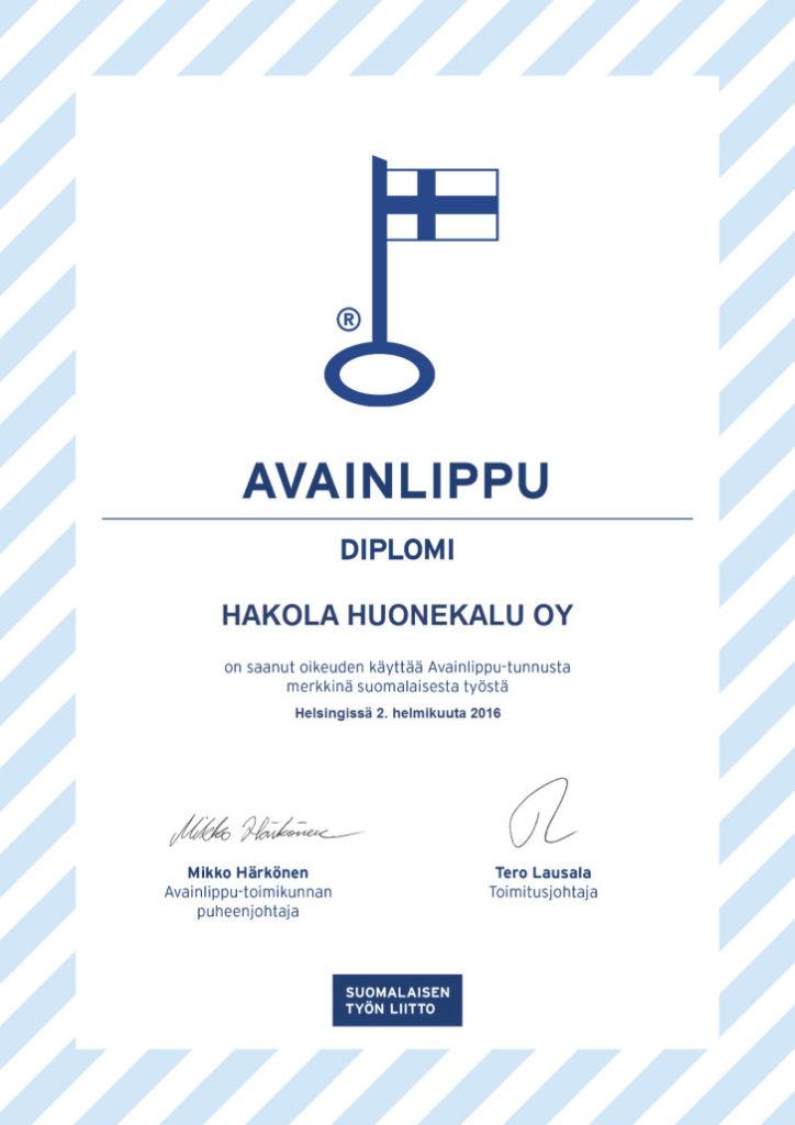 Avainlippu Diplomi