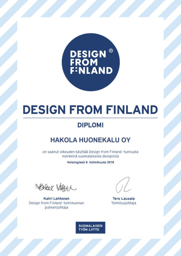 Design From Finland Diplomi