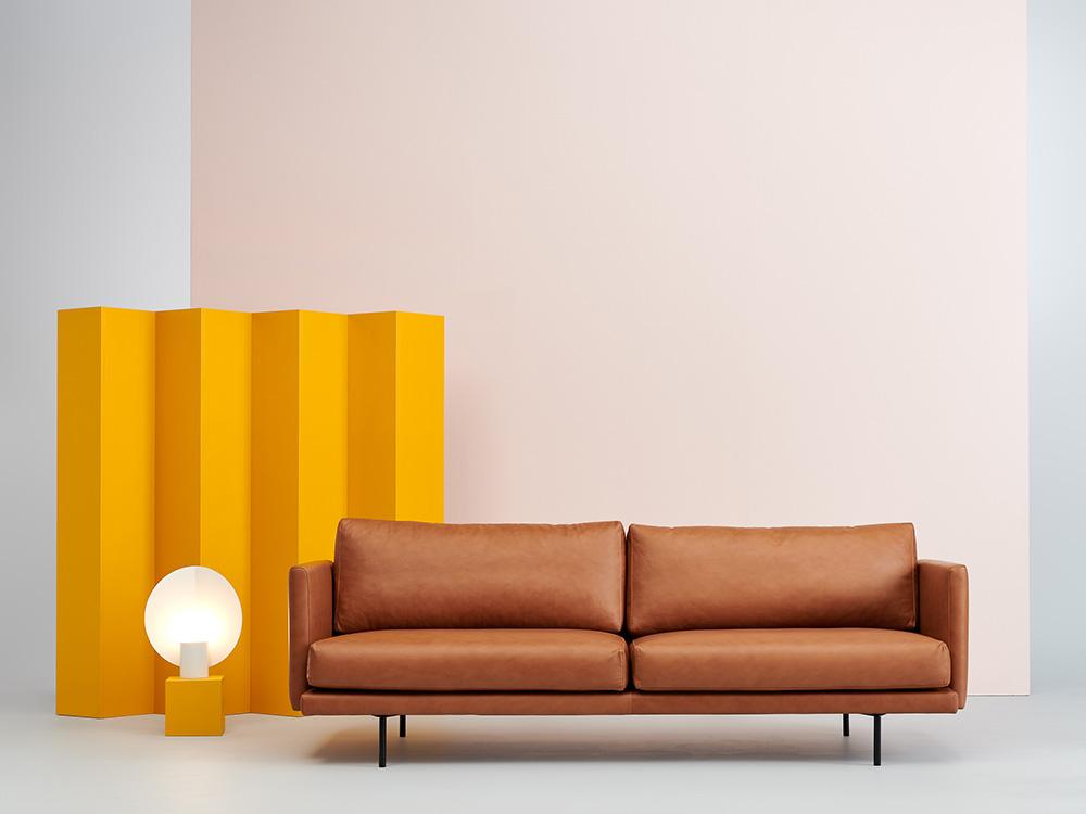Lazy-sohva Fine Leather konjakki