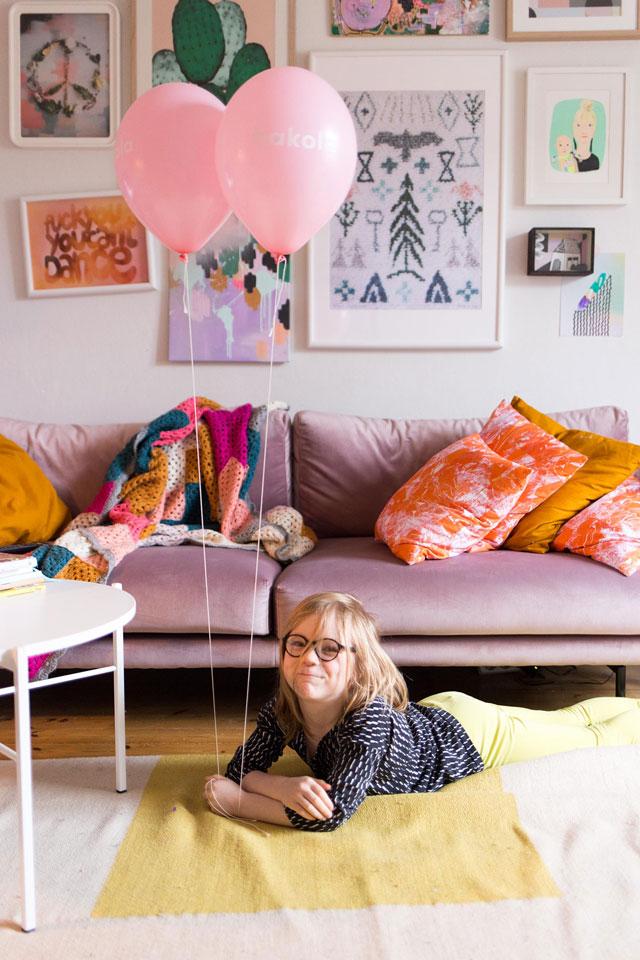 Lazy Velvet -sohva Tiina Arposen kotona.