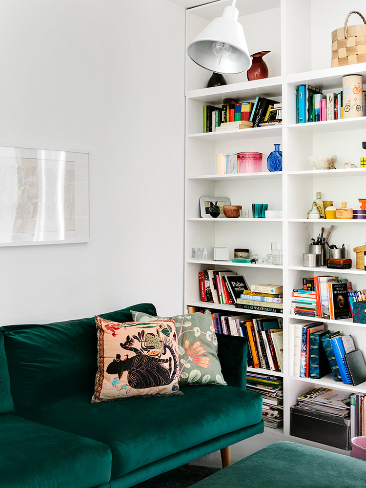 Hakola Friends: Lazy Velvet -sohva Tanjan kotona