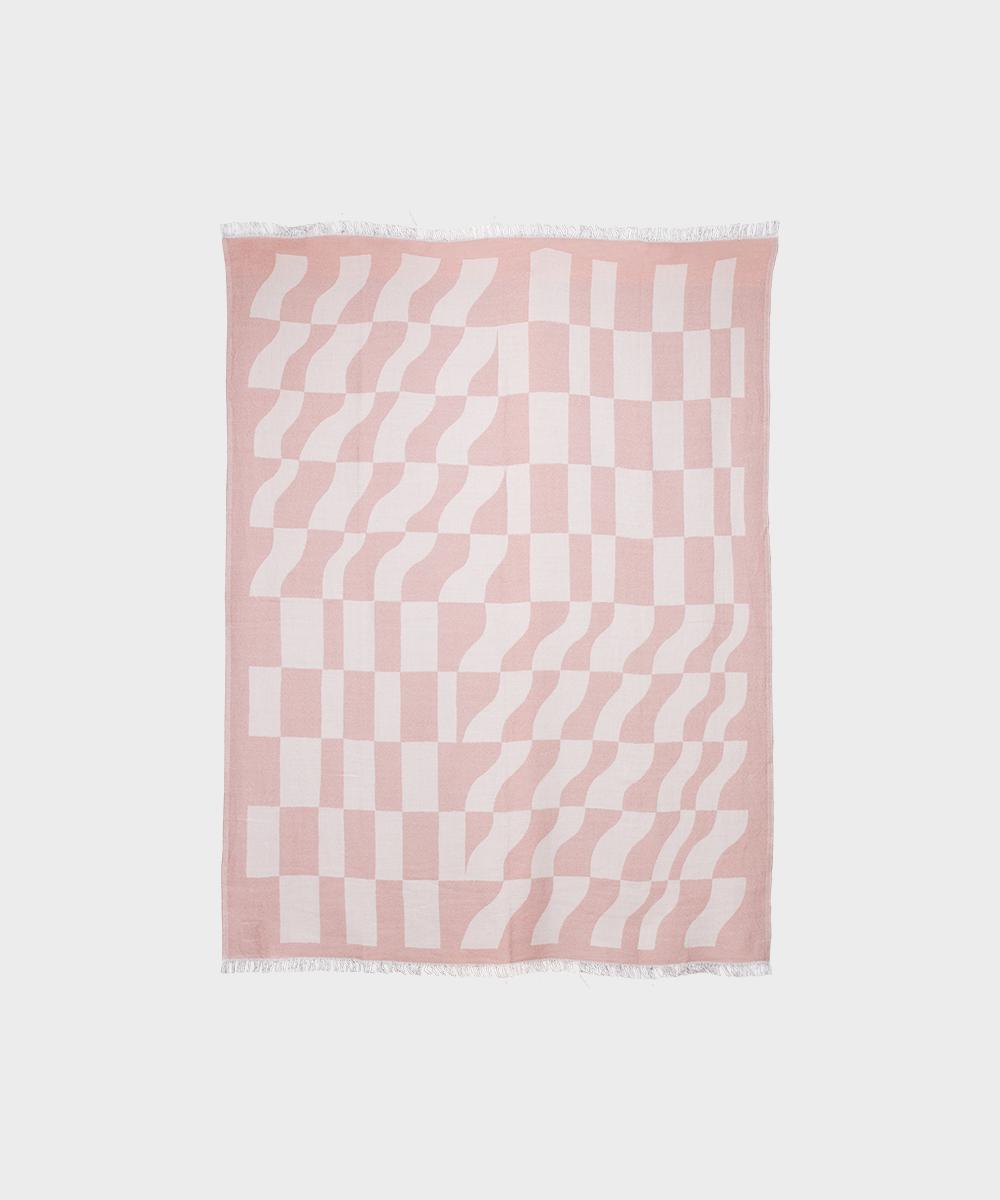 Hakola Laine-villaviltti vaaleanpunainen.