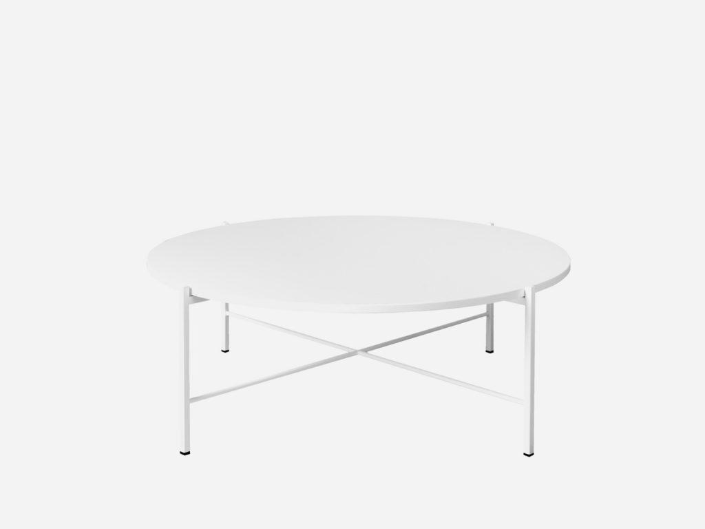 Hakola Round-sohvapöytä valkoisena