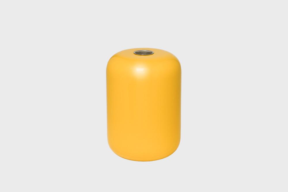 Hakola Soma-kynttilänjalka keltainen