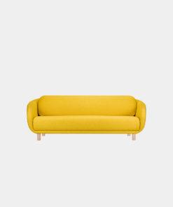 Hakola Bobo Wool iso -sohva Sahramin värisellä Hallingdal-kankaalla ja koivujaloilla