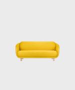 Hakola Bobo Wool pieni -sohva Sahramin värisellä Hallingdal-kankaalla ja koivujaloilla