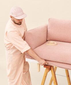 Hakola on Wheels -huoltopalvelu: sohvan päällisen vaihto