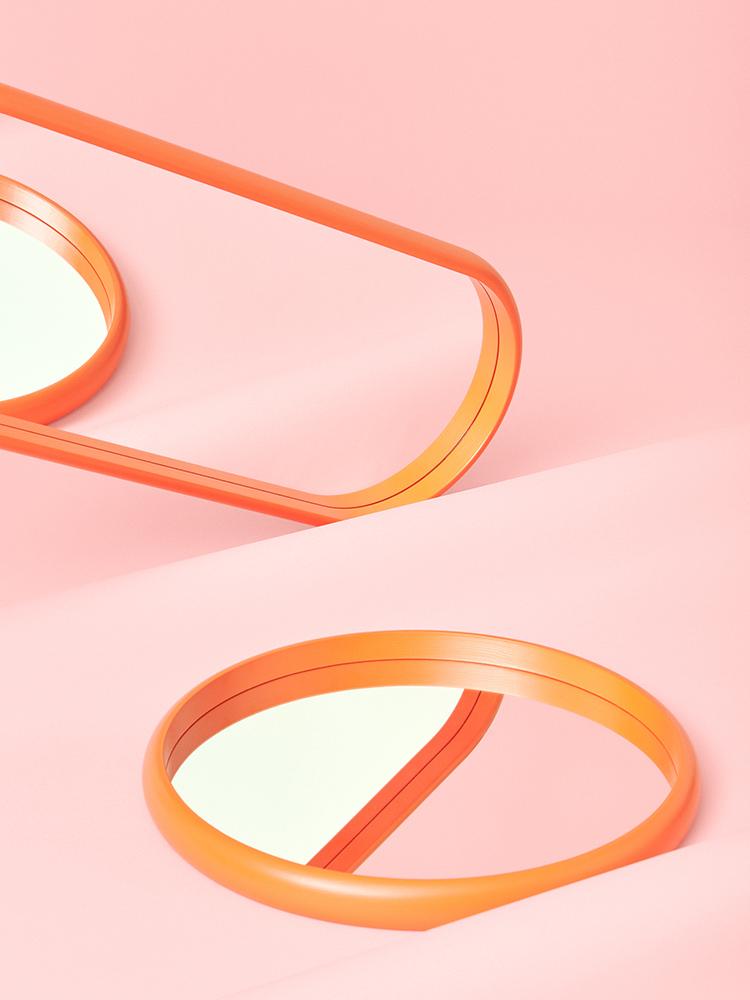 Hakola Bonbon ovaali -peili oranssi