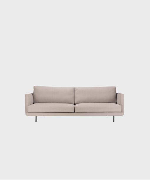 Lazy Classic -vuodesohva laten värisellä Soft-kankaalla ja mustilla metallijaloilla